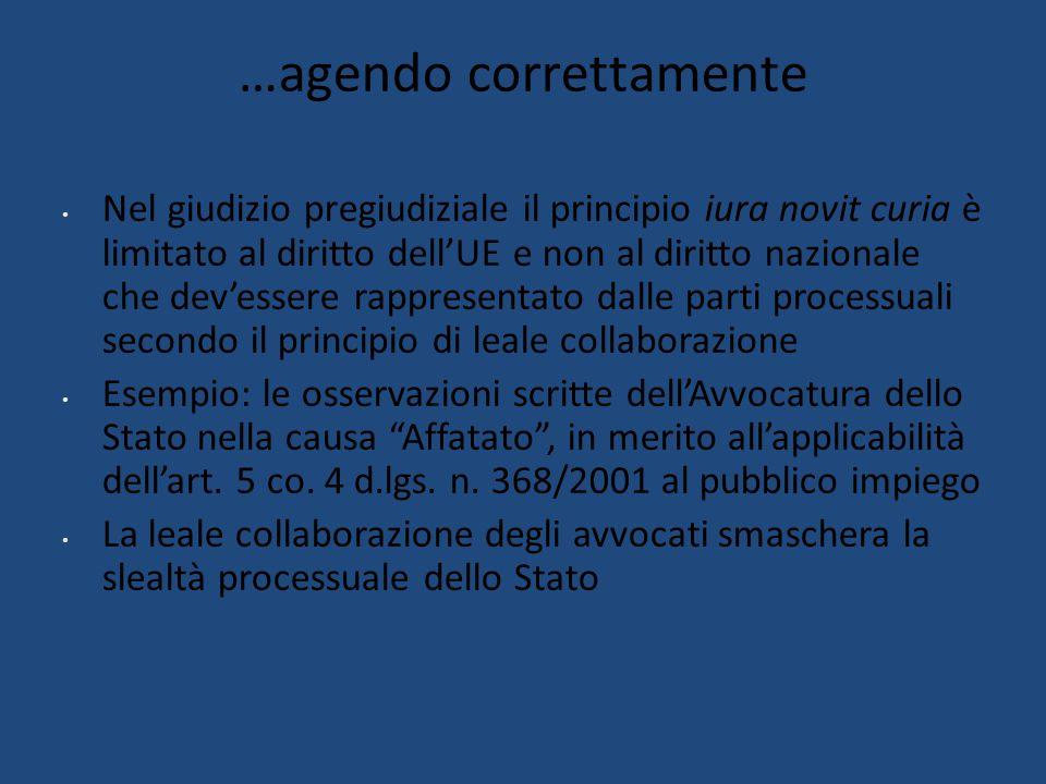 … pronti a usare le maniere forti Lo strano revirement della CGUE sul caso Vino , in relazione all'impatto economico – sociale che la pronuncia avrebbe avuto (art.