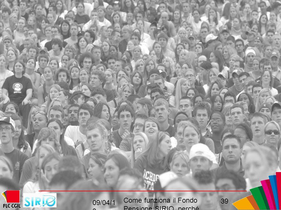 09/04/1 3 Come funziona il Fondo Pensione SIRIO perché come, convenienza 39