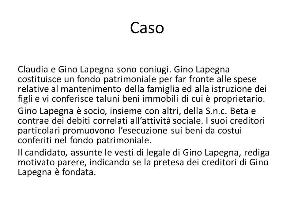 Caso Claudia e Gino Lapegna sono coniugi.
