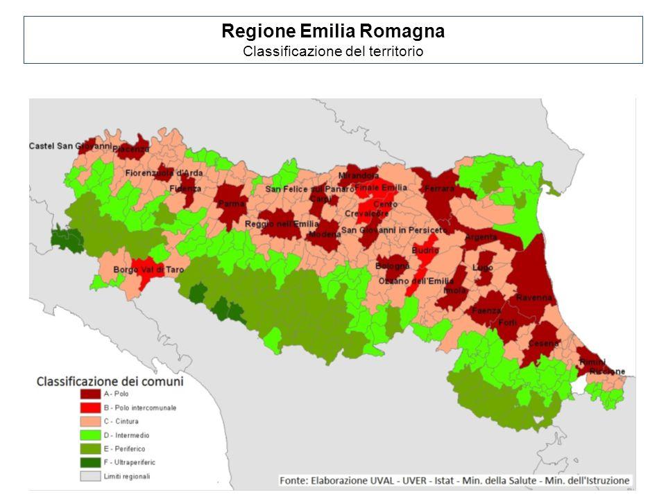 Regione Emilia Romagna Classificazione del territorio