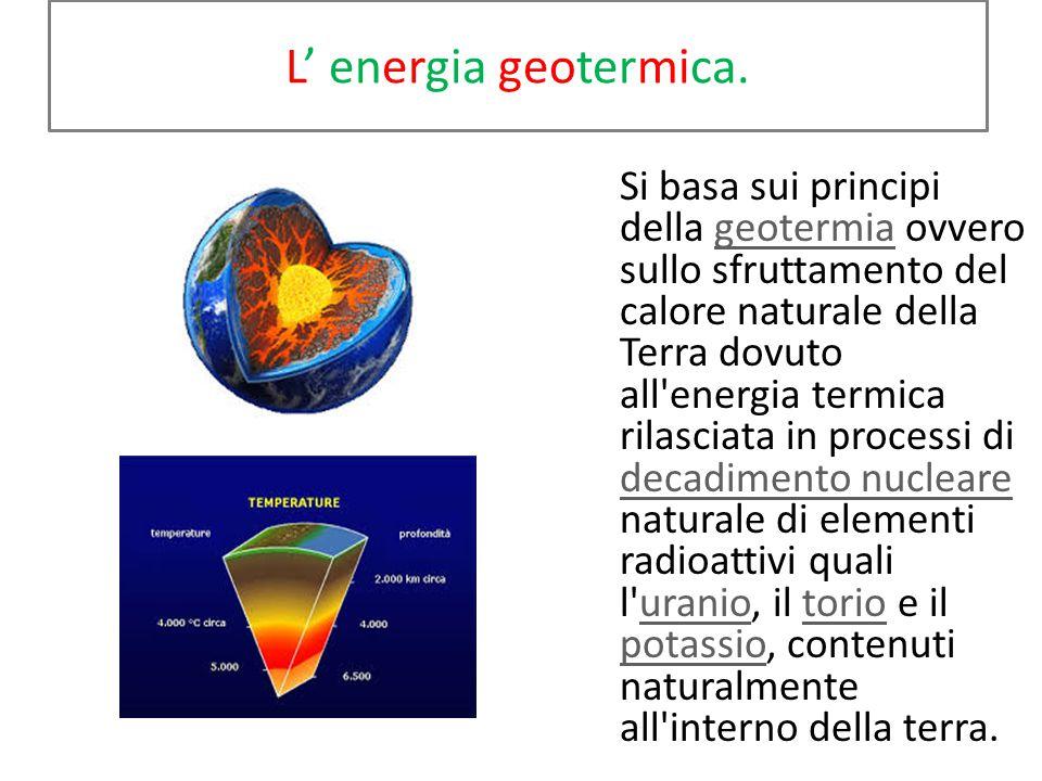 In Italia Si è scoperto che esiste un ottimo potenziale per lo sfruttamento dell' energia eolica lungo la dorsale appenninica. L' ENEL ha attivato da