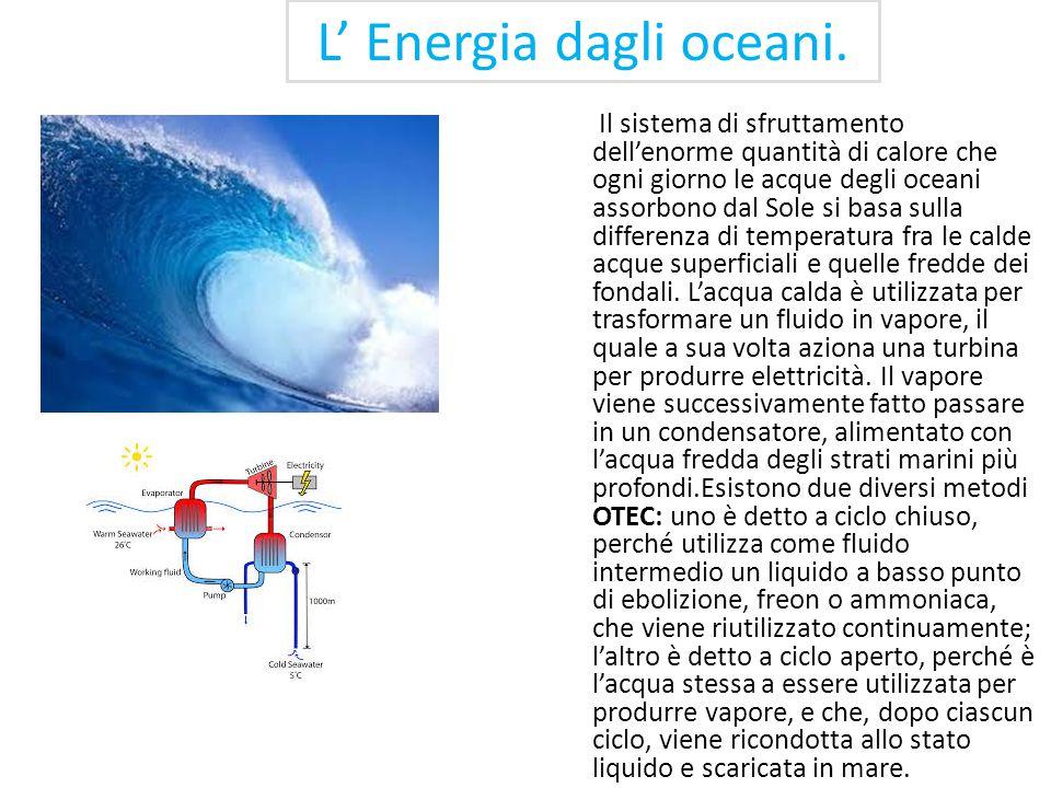 … Le fonti rinnovabili … L'interesse per la ricerca di fonti alternative di energia è nato con la crisi petrolifera del 1973, che ha messo in evidenza