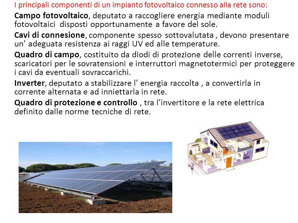 Il fotovoltaico Le nuove tecnologie fotovoltaiche di ultima generazione sono in grado di disperdere meno luce solare riuscendo ad aumentare la produzi