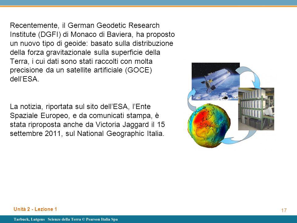 Recentemente, il German Geodetic Research Institute (DGFI) di Monaco di Baviera, ha proposto un nuovo tipo di geoide: basato sulla distribuzione della
