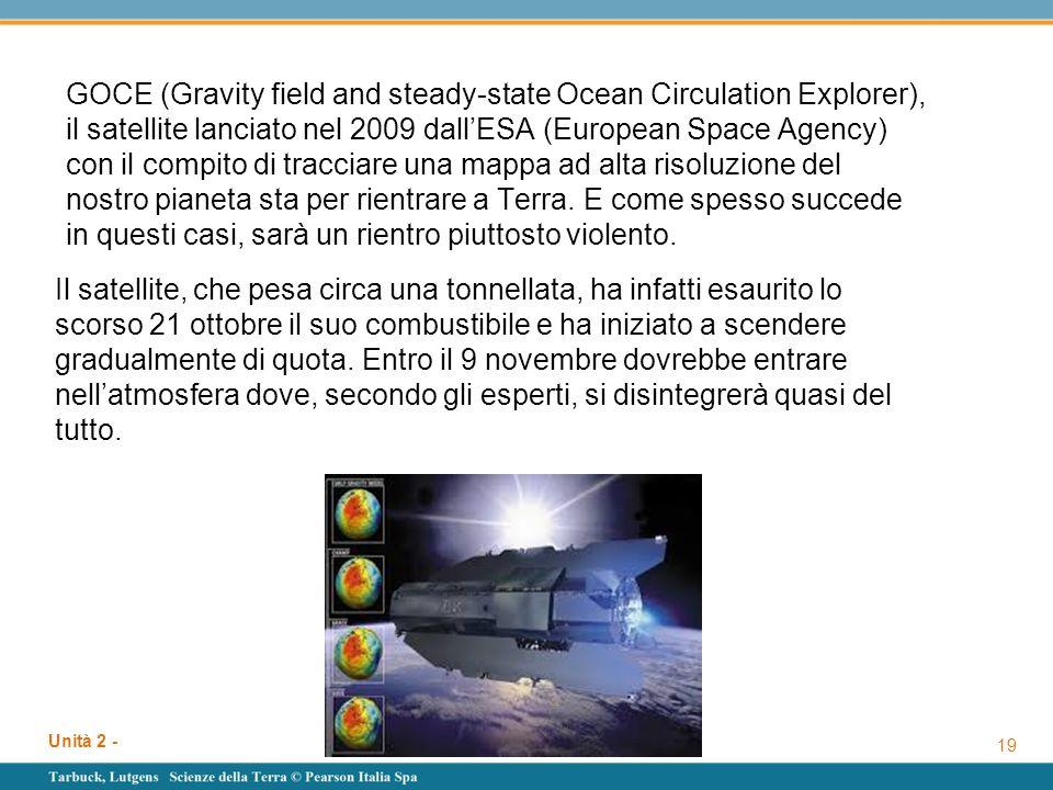 GOCE (Gravity field and steady-state Ocean Circulation Explorer), il satellite lanciato nel 2009 dall'ESA (European Space Agency) con il compito di tr