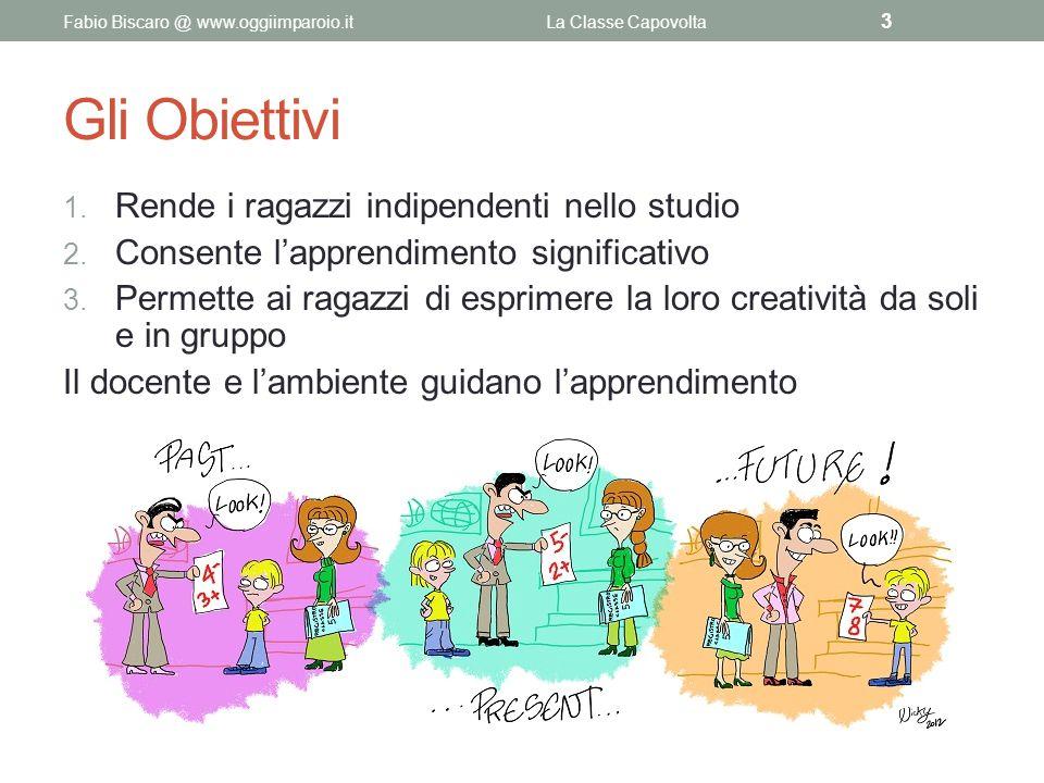 Gli Obiettivi 1. Rende i ragazzi indipendenti nello studio 2. Consente l'apprendimento significativo 3. Permette ai ragazzi di esprimere la loro creat