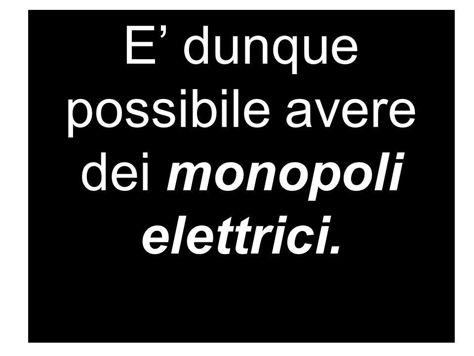 E' dunque possibile avere dei monopoli elettrici.