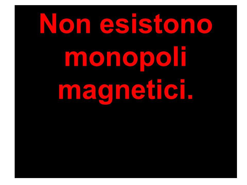 Non esistono monopoli magnetici.