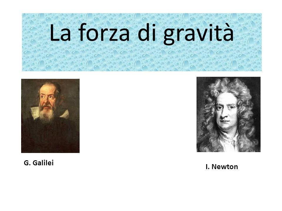 La forza di gravità G. Galilei I. Newton
