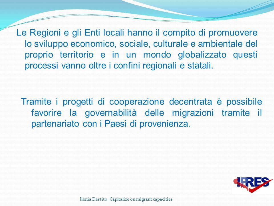 Le Regioni e gli Enti locali hanno il compito di promuovere lo sviluppo economico, sociale, culturale e ambientale del proprio territorio e in un mond