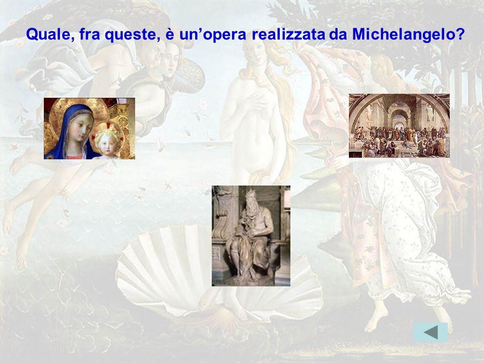 michelang3 Quale, fra queste, è un'opera realizzata da Michelangelo? Indice