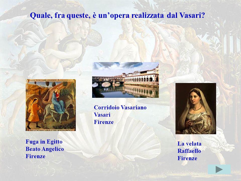 Vasarierrata Quale, fra queste, è un'opera realizzata dal Vasari?