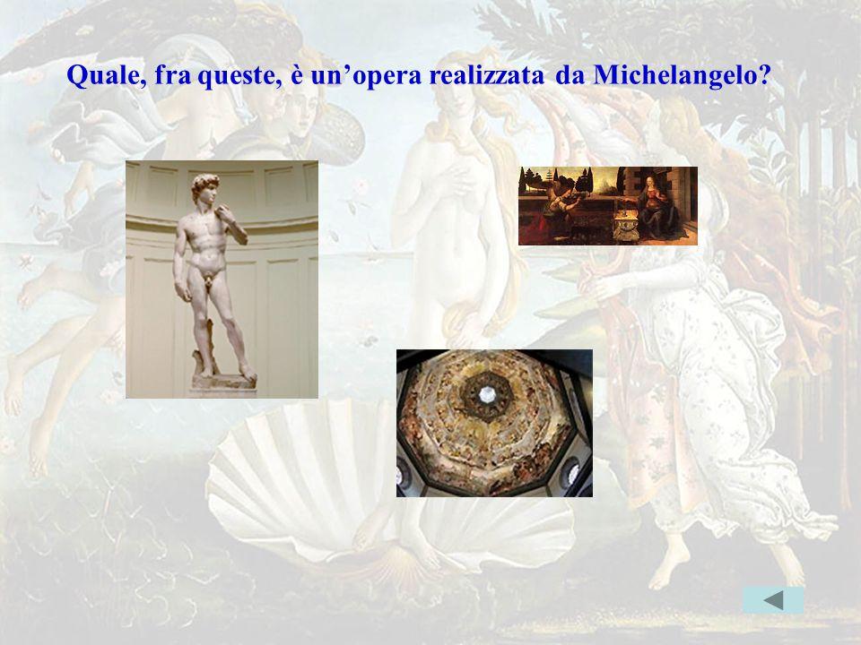 michel2 Quale, fra queste, è un'opera realizzata da Michelangelo? Indice