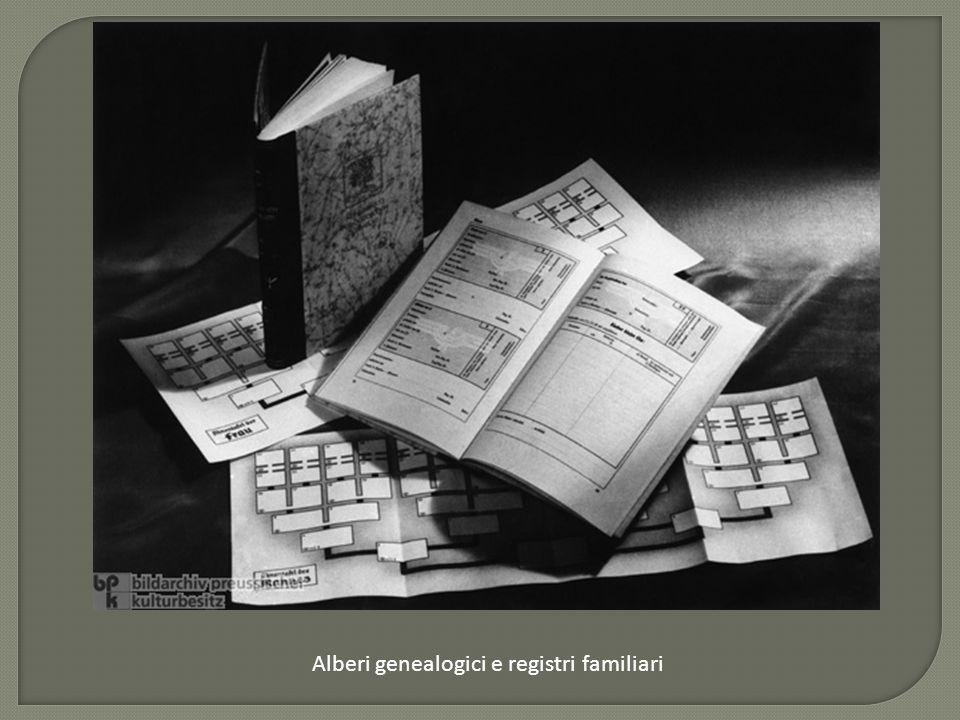 Alberi genealogici e registri familiari