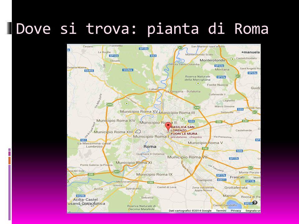 Dove si trova: pianta di Roma