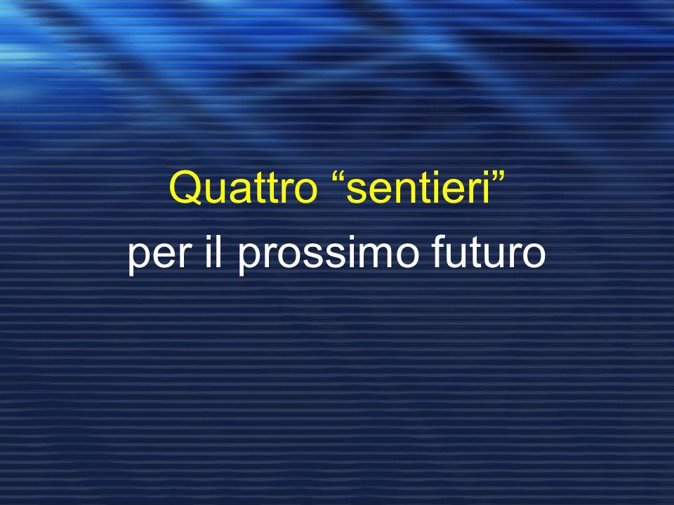 """Quattro """"sentieri"""" per il prossimo futuro"""