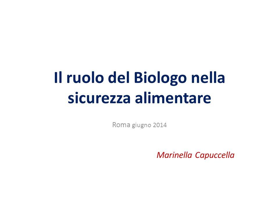 Il ruolo del Biologo nella sicurezza alimentare Roma giugno 2014 Marinella Capuccella