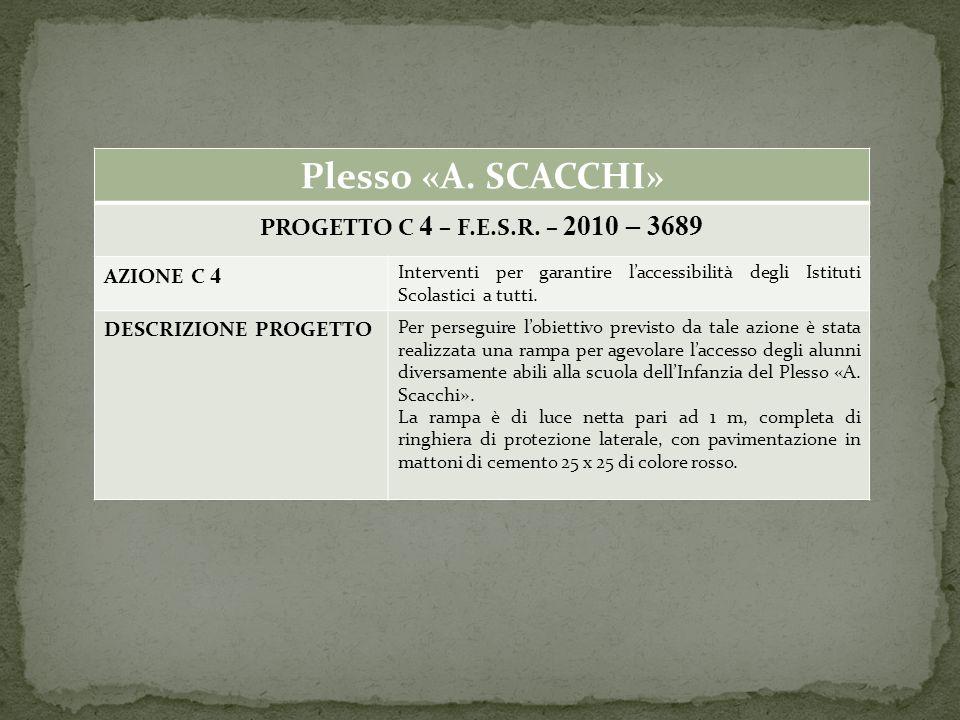 Plesso «A. SCACCHI» PROGETTO C 4 – F.E.S.R.