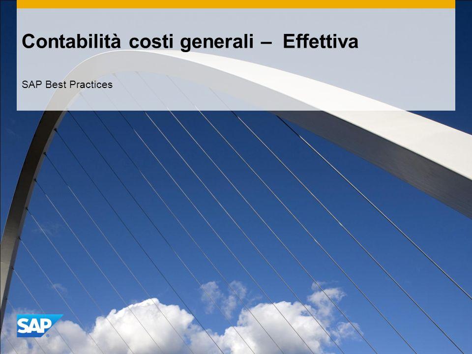 Contabilità costi generali – Effettiva SAP Best Practices