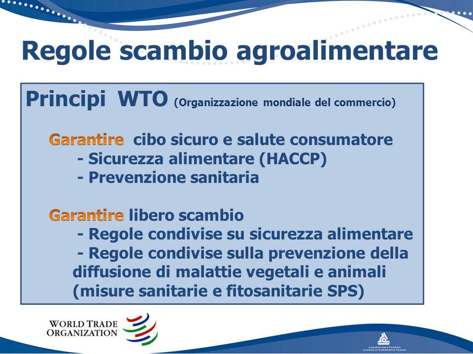LABORATORIO CHIMICO CAMERA COMMERCIO TORINO Regole scambio agroalimentare