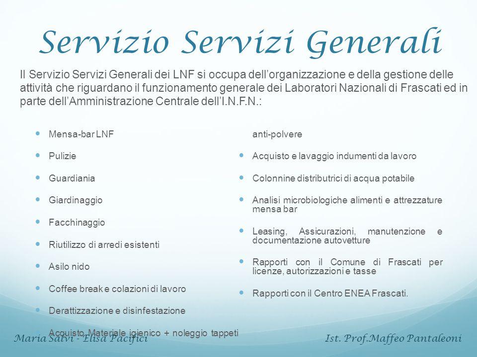 Come si lavora Servizio Mensa e Bar LNF Viene aggiudicato ad una ditta esterna tramite una gara di appalto.