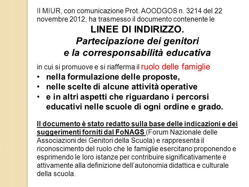 Il MIUR, con comunicazione Prot.AOODGOS n.
