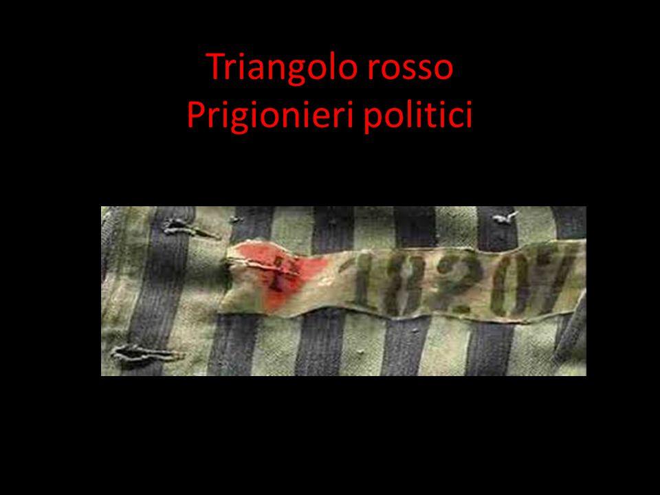 I simboli d'identificazione dei prigionieri: triangoli in stoffa, cuciti sui vestiti, la cui forma e il cui colore avevano significati precisi.