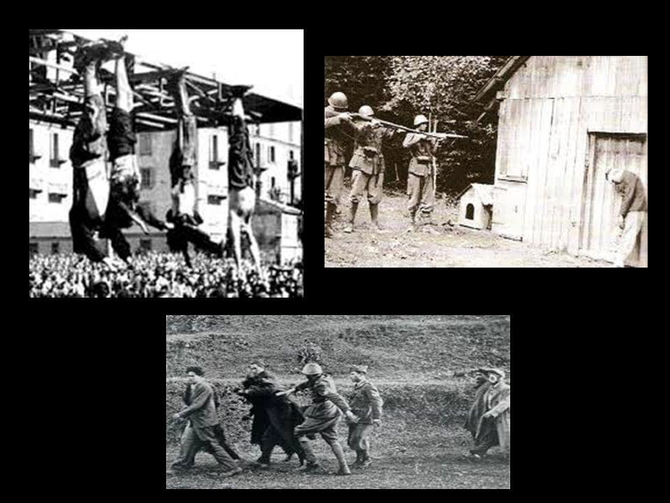 I metodi di uccisione: -Strangolamento; -Impiccagione per i piedi, così procurare una morte più lenta e dolorosa; -Fucilazione di vittime riunite in u