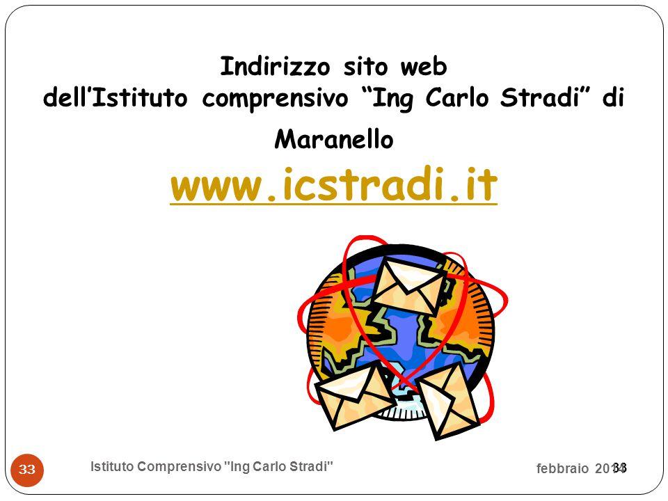 """33 Indirizzo sito web dell'Istituto comprensivo """"Ing Carlo Stradi"""" di Maranello www.icstradi.it febbraio 2014 Istituto Comprensivo"""