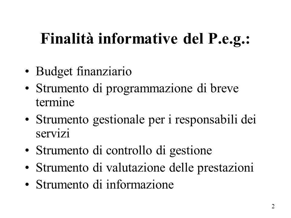 1 Il Piano Esecutivo di gestione primo approccio al controllo di gestione negli Enti locali a cura del Prof. Luca Mazzara Docente di Economia di Econo