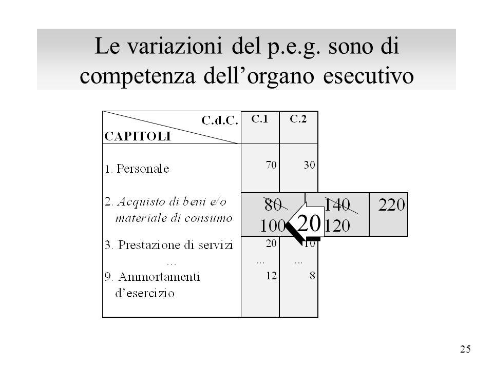 24 Il p.e.g. contiene un'ulteriore graduazione... dei servizi in centri di costo