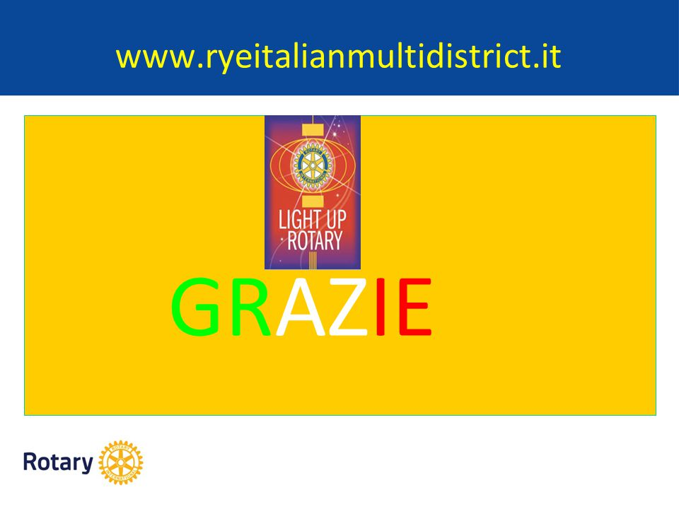 www.ryeitalianmultidistrict.it GRAZIE