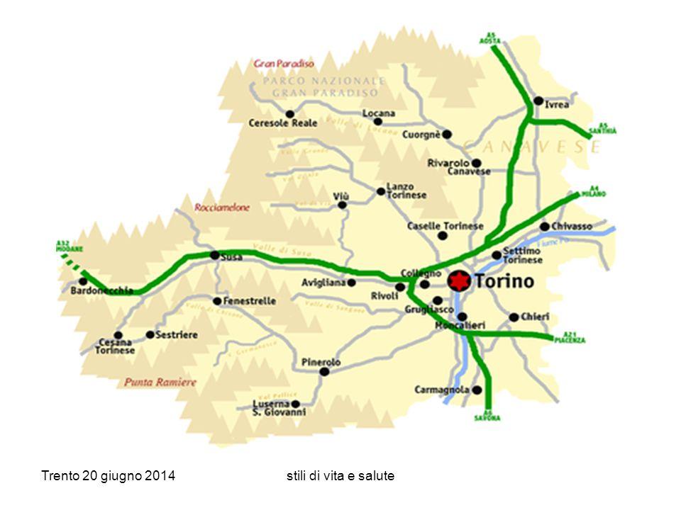 Trento 20 giugno 2014stili di vita e salute ASL TO 4: 520.000 abitanti
