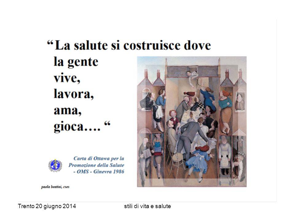Trento 20 giugno 2014stili di vita e salute