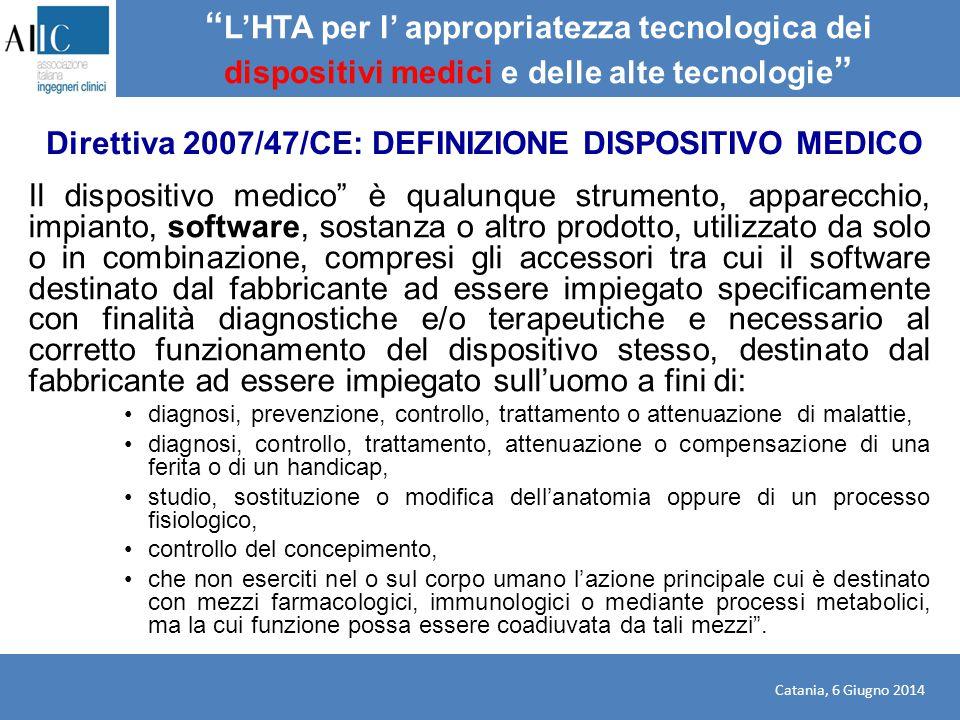 """Il dispositivo medico"""" è qualunque strumento, apparecchio, impianto, software, sostanza o altro prodotto, utilizzato da solo o in combinazione, compre"""