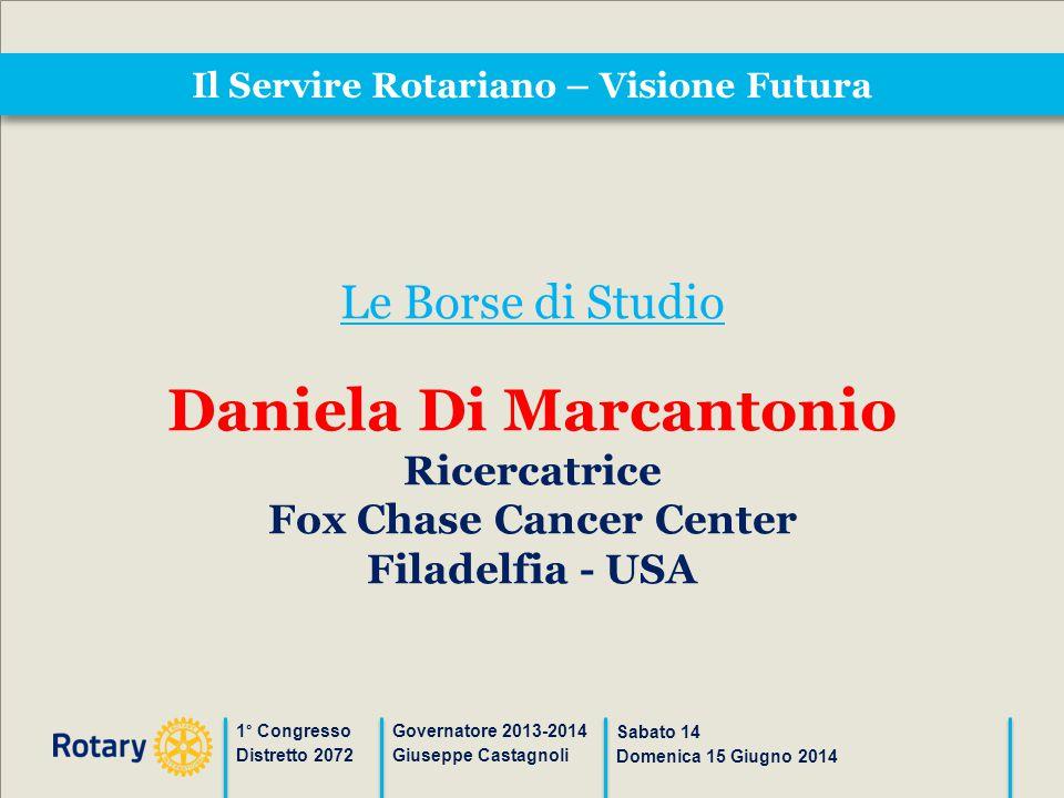 Il Servire Rotariano – Visione Futura 1° Congresso Distretto 2072 Governatore 2013-2014 Giuseppe Castagnoli Sabato 14 Domenica 15 Giugno 2014 Le Borse