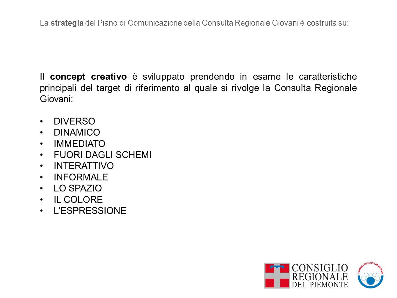 Il concept creativo è sviluppato prendendo in esame le caratteristiche principali del target di riferimento al quale si rivolge la Consulta Regionale