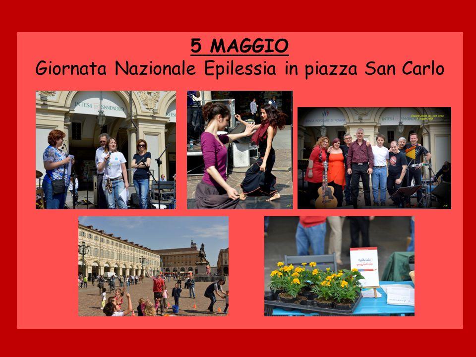 5 MAGGIO Giornata Nazionale Epilessia in piazza San Carlo