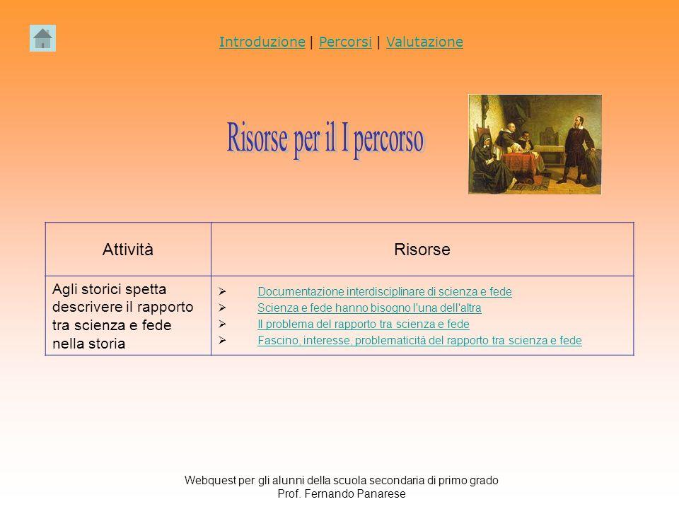 Webquest per gli alunni della scuola secondaria di primo grado Prof.