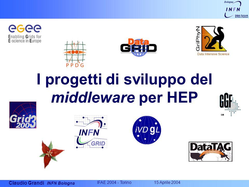 Claudio Grandi INFN Bologna IFAE 2004 - Torino 15 Aprile 2004 I progetti di sviluppo del middleware per HEP