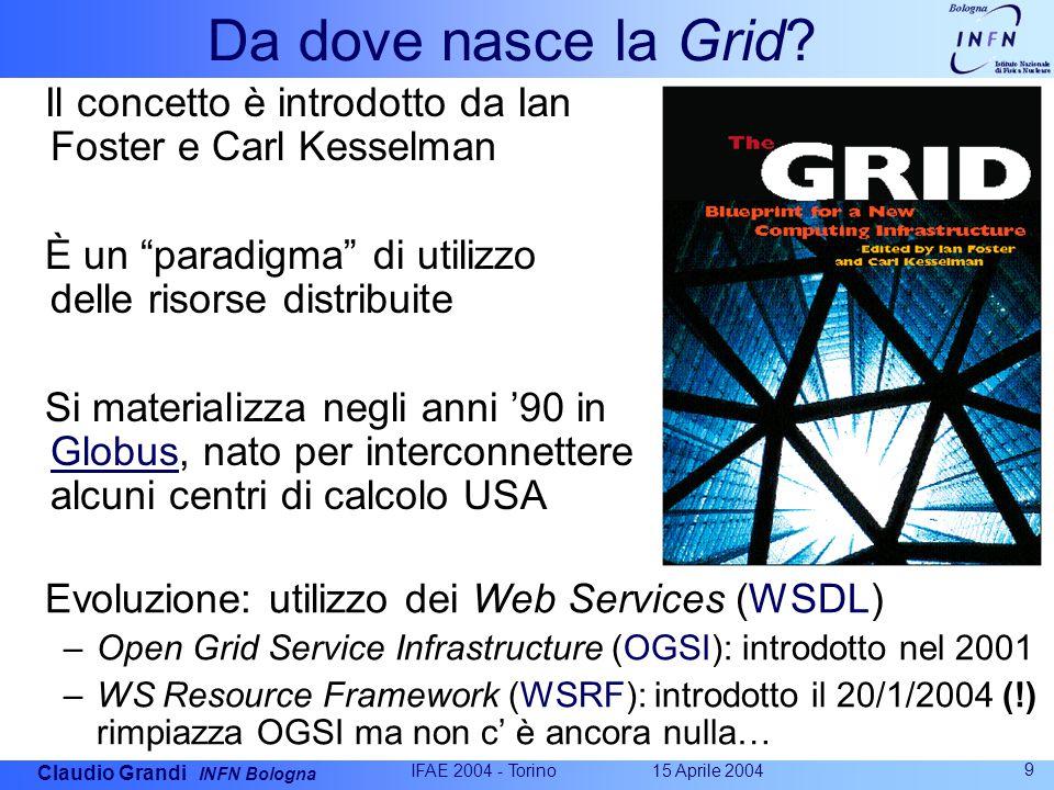 Claudio Grandi INFN Bologna 15 Aprile 2004 IFAE 2004 - Torino 9 Da dove nasce la Grid.