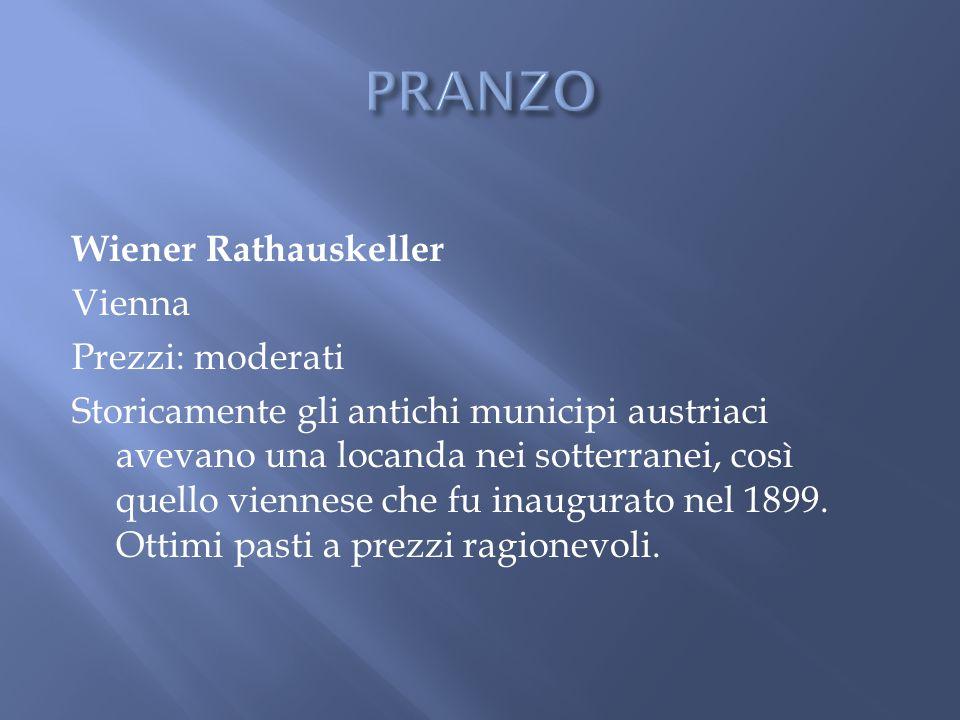Wiener Rathauskeller Vienna Prezzi: moderati Storicamente gli antichi municipi austriaci avevano una locanda nei sotterranei, così quello viennese che