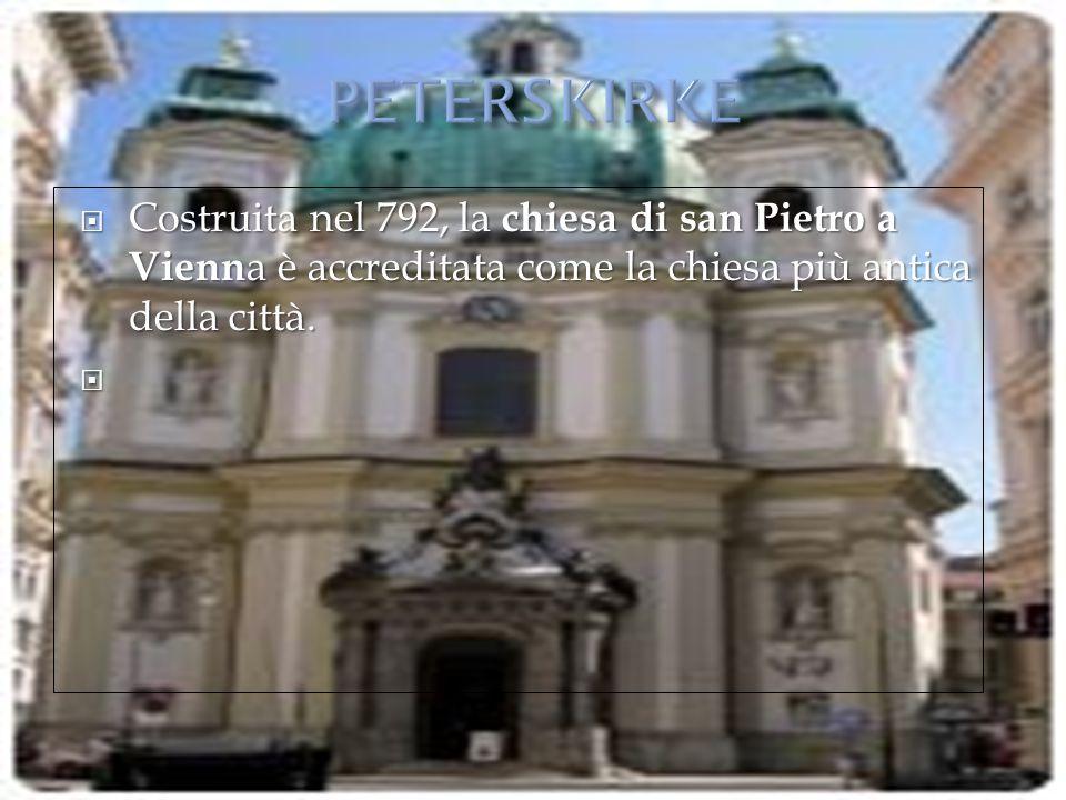  Costruita nel 792, la chiesa di san Pietro a Vienn a è accreditata come la chiesa più antica della città. 