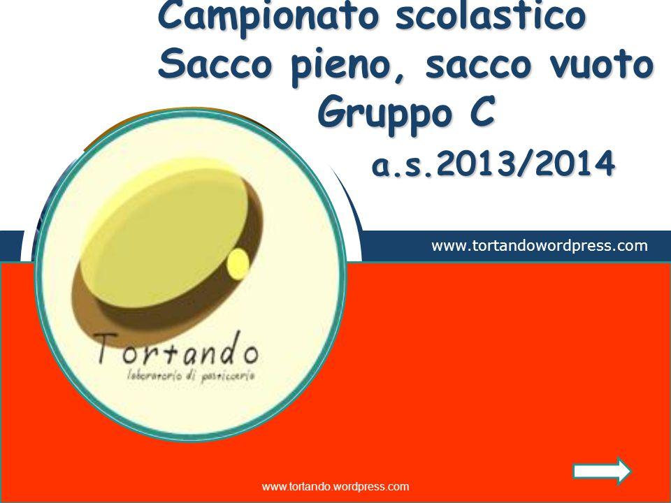 LOGO Campionato scolastico Sacco pieno, sacco vuoto Gruppo C a.s.2013/2014 www.tortandowordpress.com www.tortando.wordpress.com