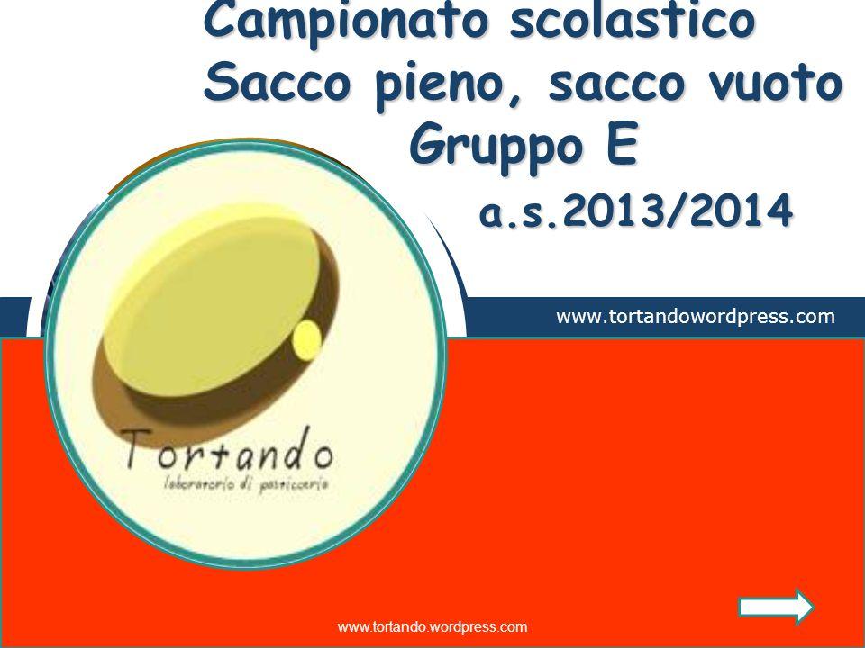 LOGO Campionato scolastico Sacco pieno, sacco vuoto Gruppo E a.s.2013/2014 www.tortandowordpress.com www.tortando.wordpress.com