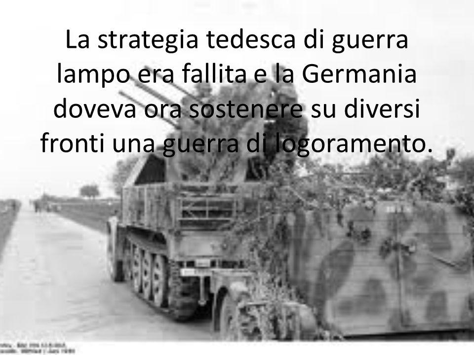 La strategia tedesca di guerra lampo era fallita e la Germania doveva ora sostenere su diversi fronti una guerra di logoramento.