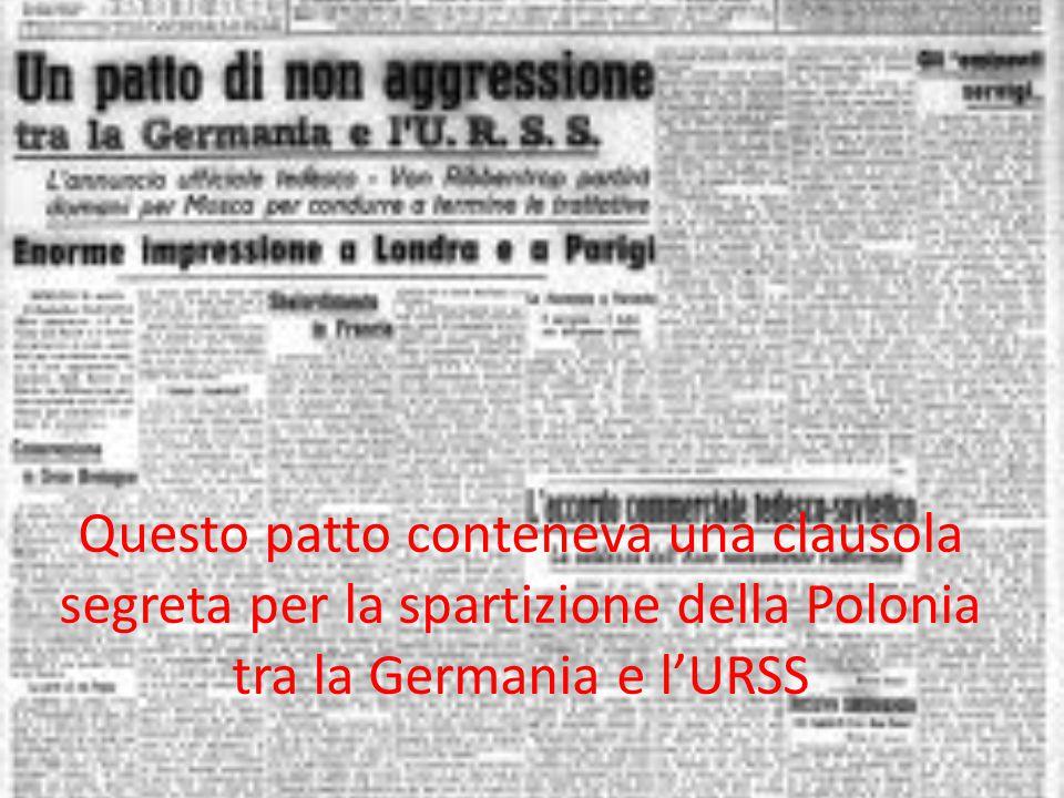IL 1° Settembre 1939 l'esercito tedesco entrò in Polonia, due giorni dopo succede la catastrofe: Bretagna e Francia dichiararono guerra alla Germania.