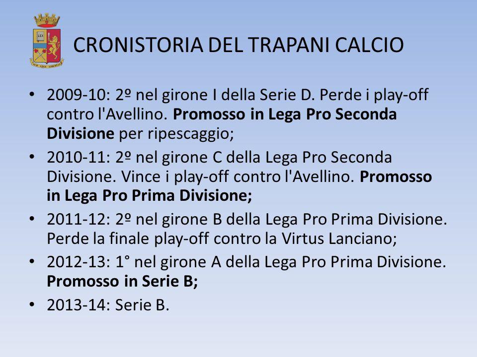 CRONISTORIA DEL TRAPANI CALCIO 2009-10: 2º nel girone I della Serie D. Perde i play-off contro l'Avellino. Promosso in Lega Pro Seconda Divisione per
