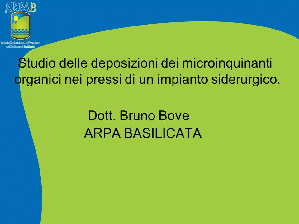 Studio delle deposizioni dei microinquinanti organici nei pressi di un impianto siderurgico. Dott. Bruno Bove ARPA BASILICATA