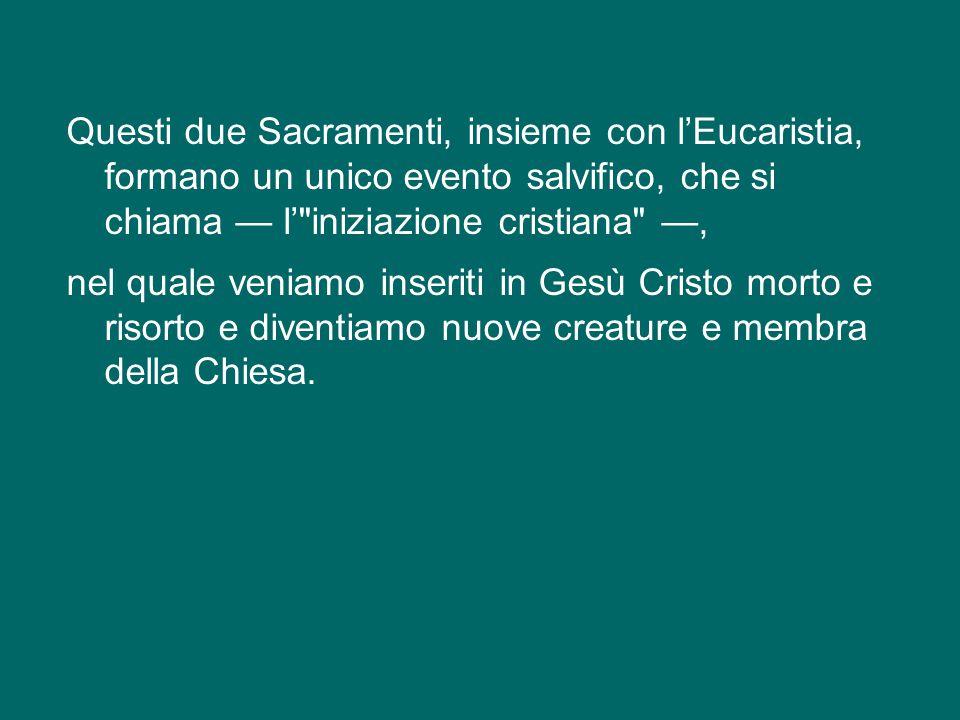 in questa terza catechesi sui Sacramenti, ci soffermiamo sulla Confermazione o Cresima, che va intesa in continuità con il Battesimo, al quale è legat